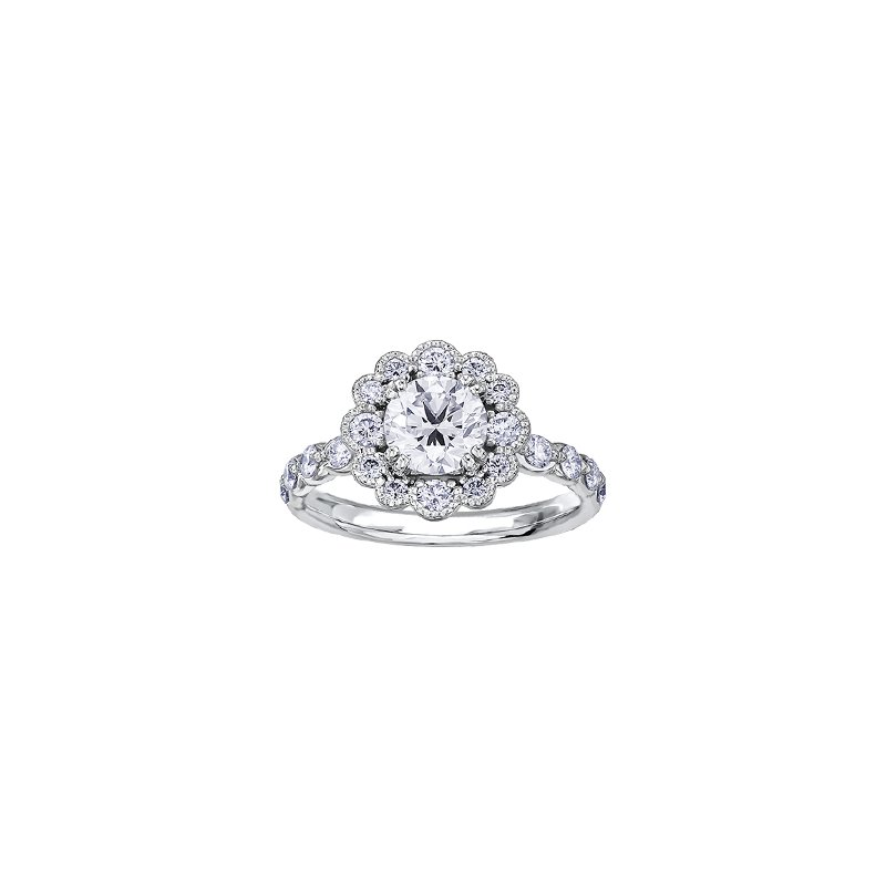 Maple Leaf Diamonds Winter Ice Queen Engagement Ring