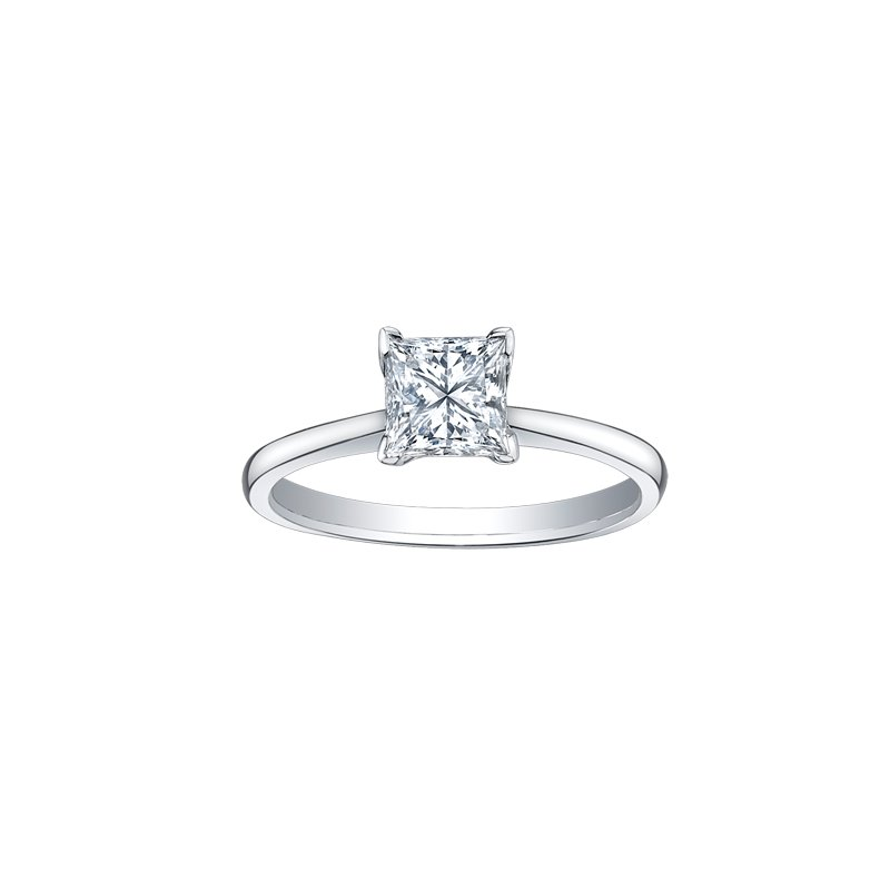 Maple Leaf Diamonds Solitaire Princess Cut Diamond Engagement Ring