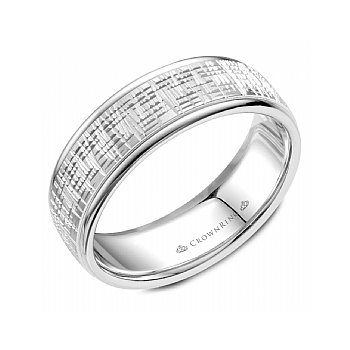 Frosted Finish Wedding Band
