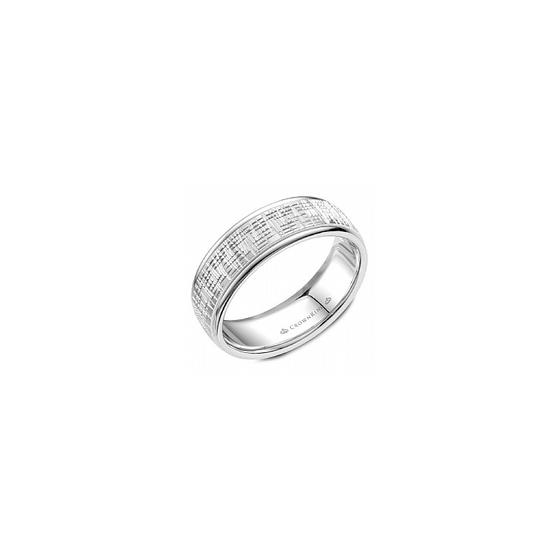 CrownRing Frosted Finish Wedding Band