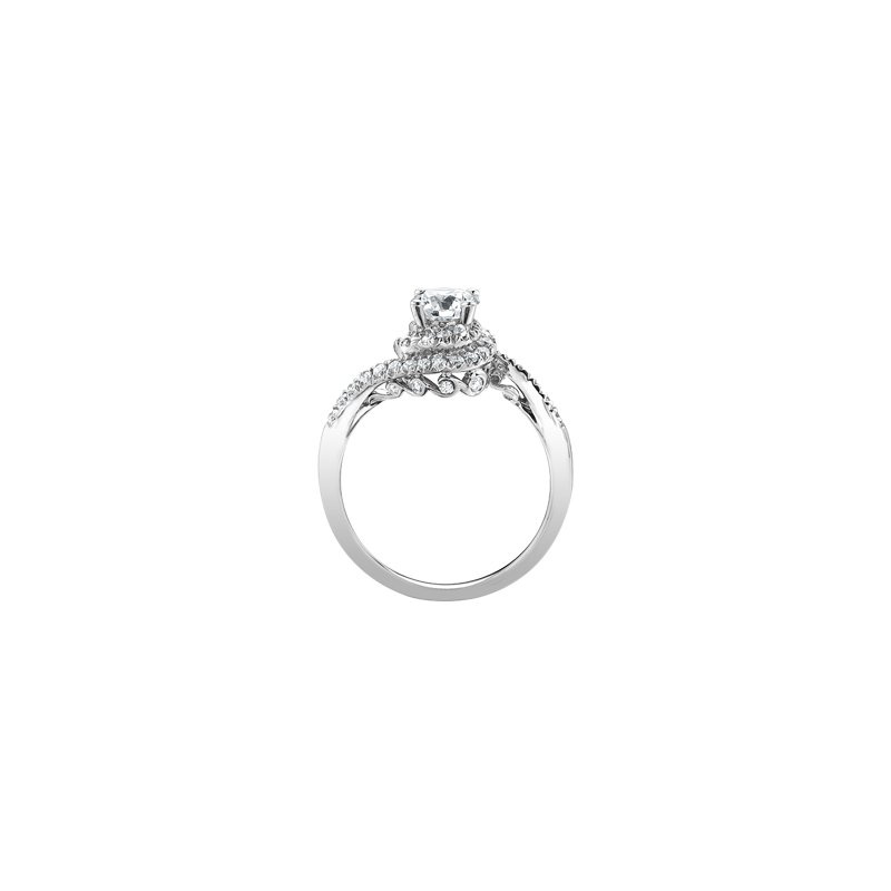 Maple Leaf Diamonds Tides of Love Bypass Engagement Ring in White Gold