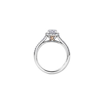 Love letters Halo Engagement Ring
