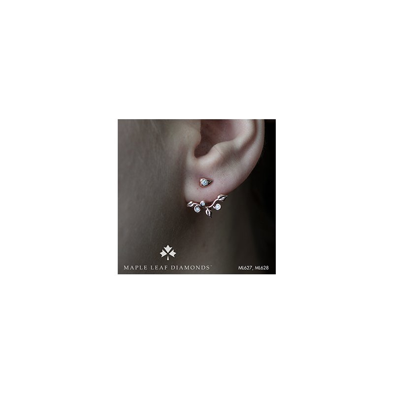 Maple Leaf Diamonds Diamond Leaf Earring Jackets
