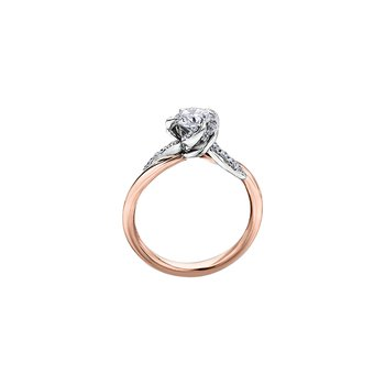 Wind's Embrace Diamond Wrap Engagement Ring in Rose Gold