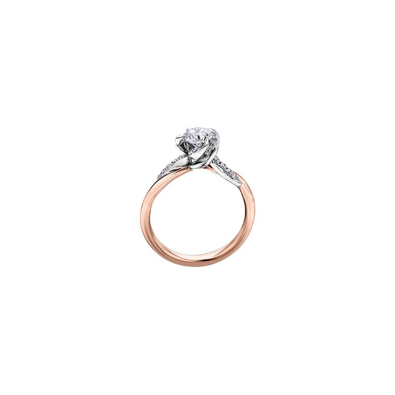 Maple Leaf Diamonds Wind's Embrace Diamond Wrap Engagement Ring in Rose Gold