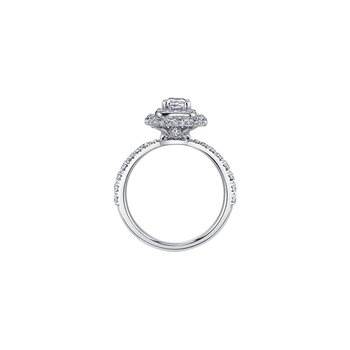 Autumn Engagement Ring in White Gold
