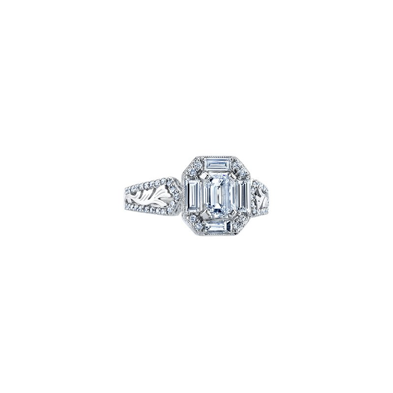 Maple Leaf Diamonds Winter Emerald Frost Engagement Ring