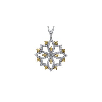Natural Fancy Yellow Diamond Pendant