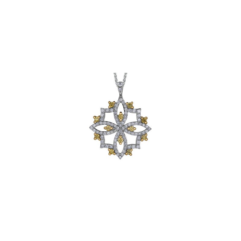 Maple Leaf Diamonds Natural Fancy Yellow Diamond Pendant