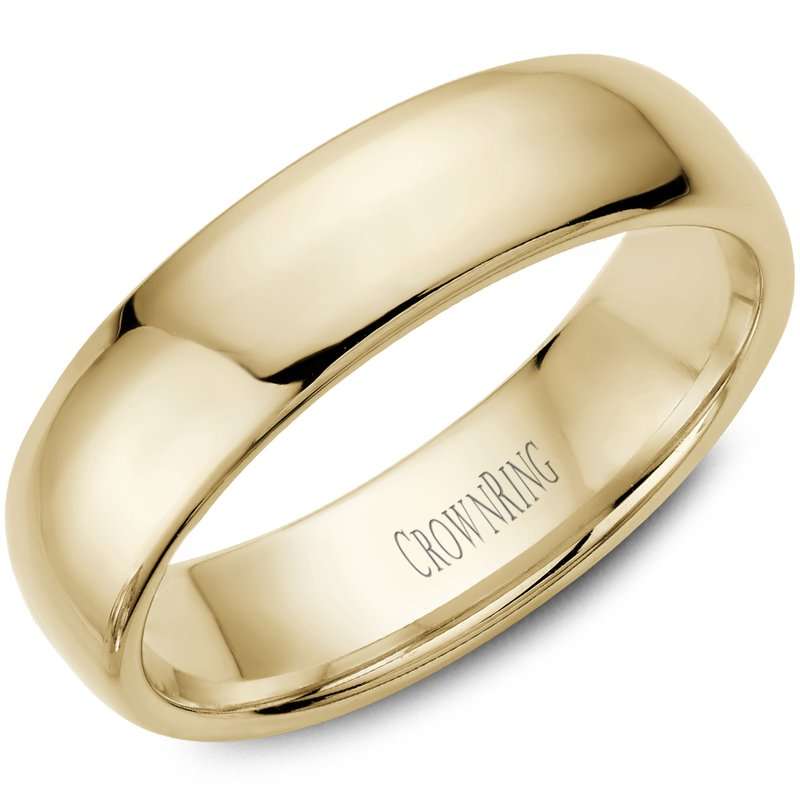 CrownRing Classic Wedding Band in Yellow Gold
