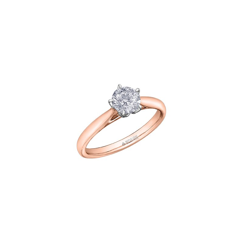 Maple Leaf Diamonds 150 Cut Collection Solitaire Ring in Rose Gold