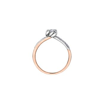 Wind's Embrace Diamond Wrap Princess Engagement Ring in Rose Gold