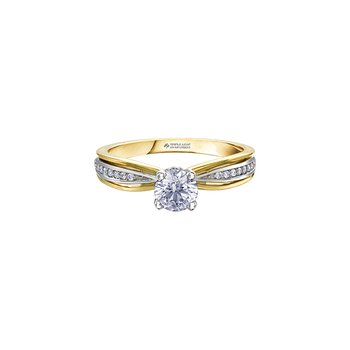 Circle of Love Two Tone Engagement Ring