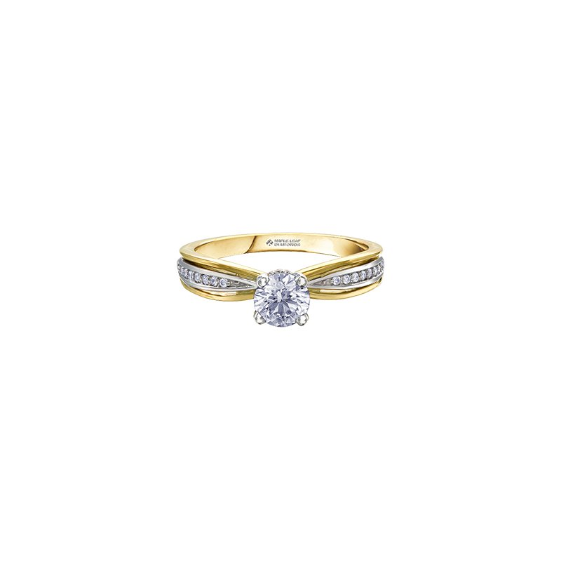 Maple Leaf Diamonds Circle of Love Two Tone Engagement Ring