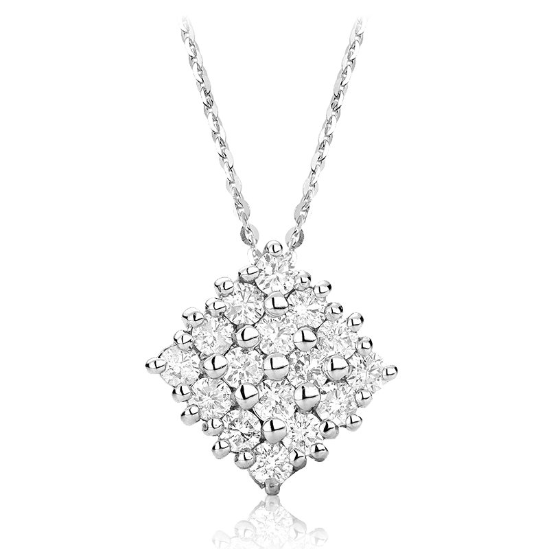 RnB Jewellery Pave Diamond Square Pendant