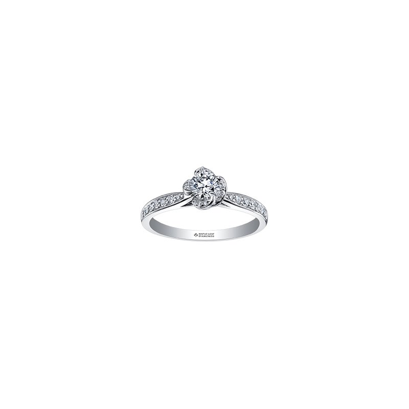 Maple Leaf Diamonds Wind's Embrace Diamond Set Engagement Ring in White Gold