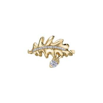 Oak Leaf Wrap Ring