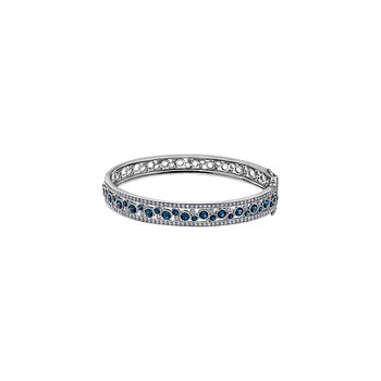 Ruby or Sapphire and Diamond Bangle