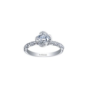 Wind's Embrace Diamond Twist Band Engagement Ring