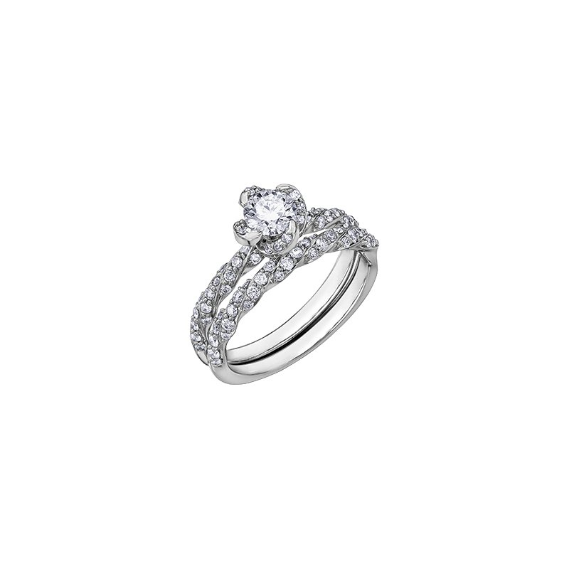 Maple Leaf Diamonds Wind's Embrace Diamond Twist Band Engagement Ring