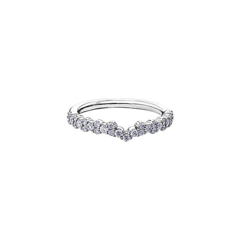 Maple Leaf Diamonds Wind's Embrace Diamond Set Cushion Engagement Ring