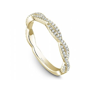 Pave Diamond Scalloped Band