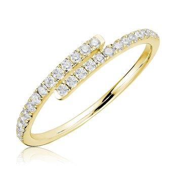 Diamond Bypass Ring