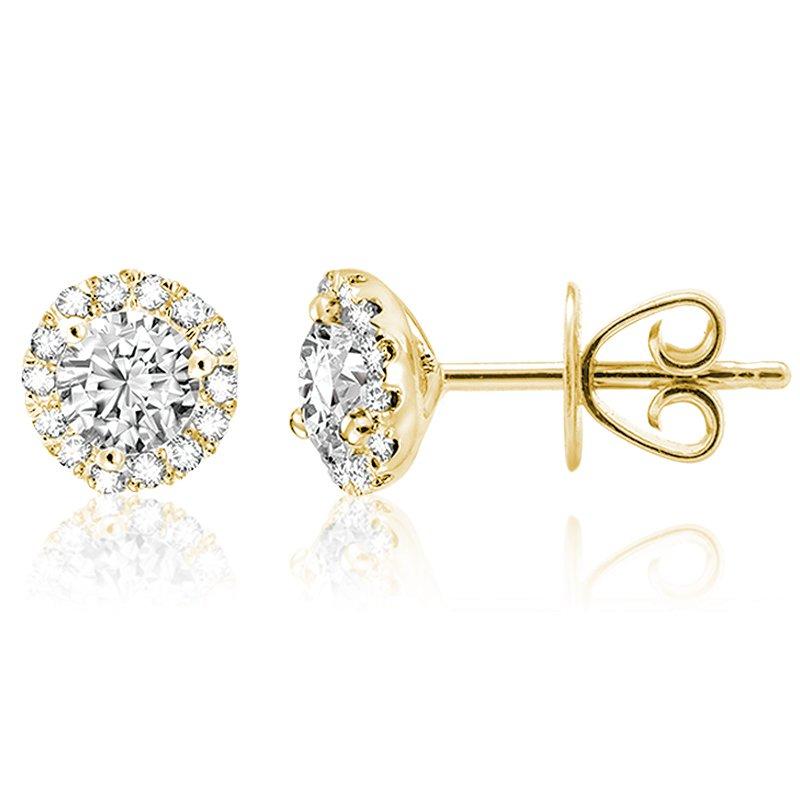 RnB Jewellery Diamond Halo Stud Earrings
