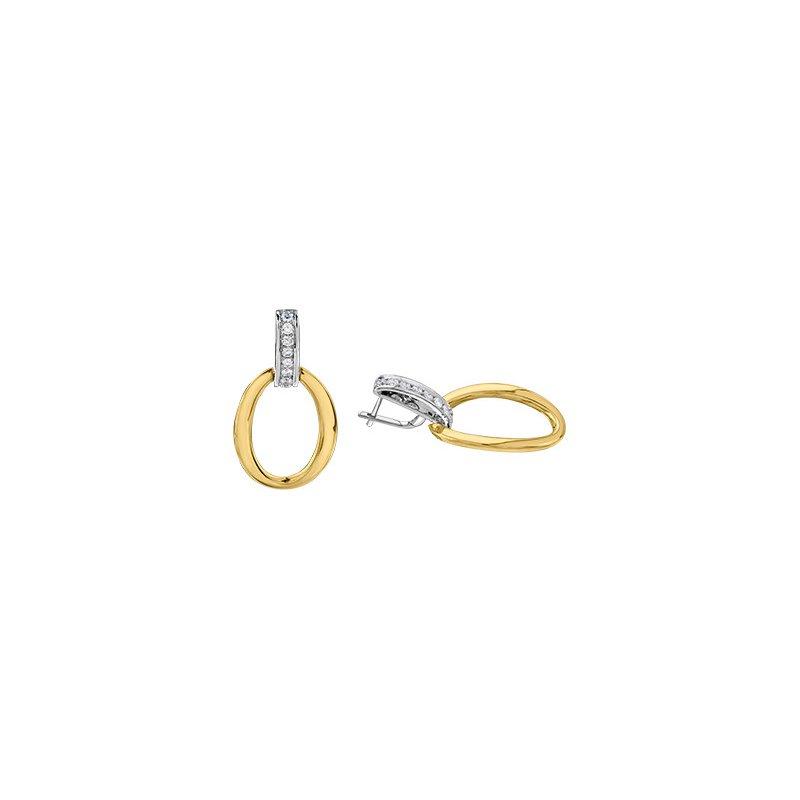 Maple Leaf Diamonds Diamond Loop Earrings