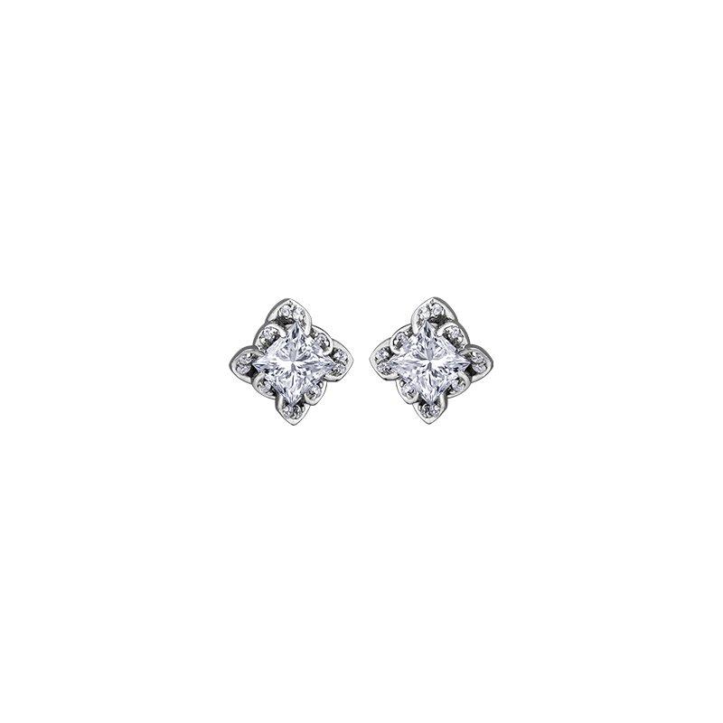 Maple Leaf Diamonds Wind's Embrace Stud Earrings