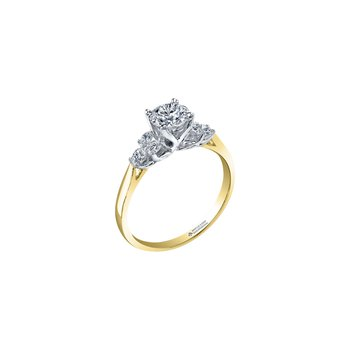 Eternal Flames Cluster Engagement Ring in Yellow Gold