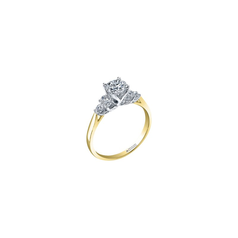 Maple Leaf Diamonds Eternal Flames Cluster Engagement Ring in Yellow Gold