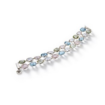 Double Row Multi-Stone Bracelet
