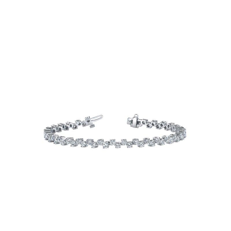 Maple Leaf Diamonds Zig Zag Diamond Bracelet
