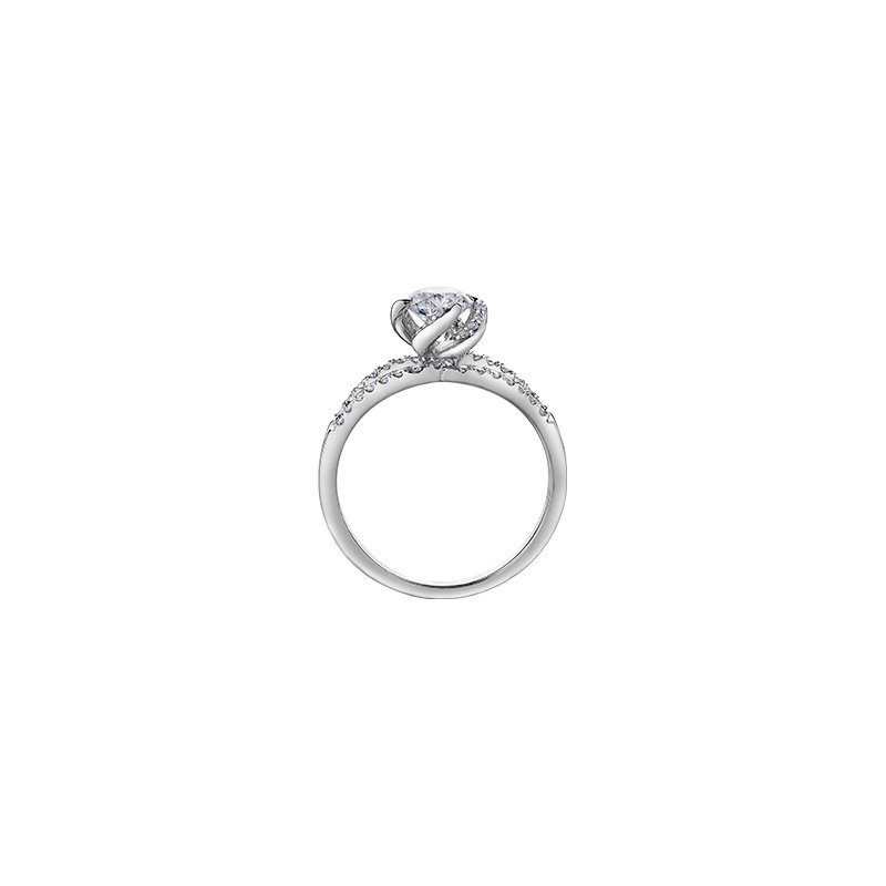 Maple Leaf Diamonds Wind's Embrace Tapered Double Band Engagement Ring