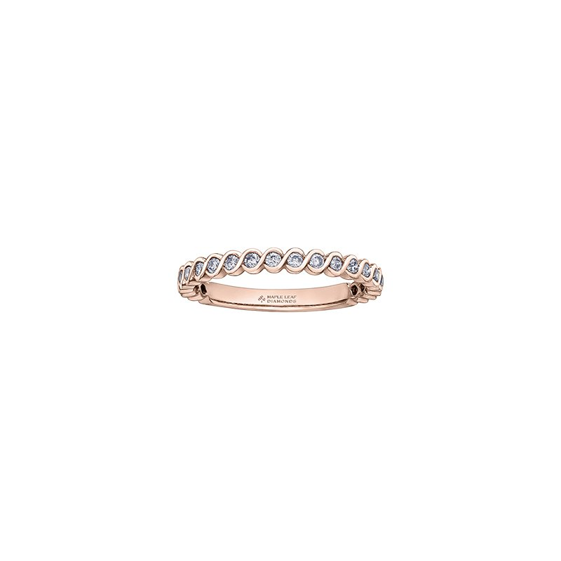 Maple Leaf Diamonds Tides of Love Halo Engagement Ring in Rose Gold