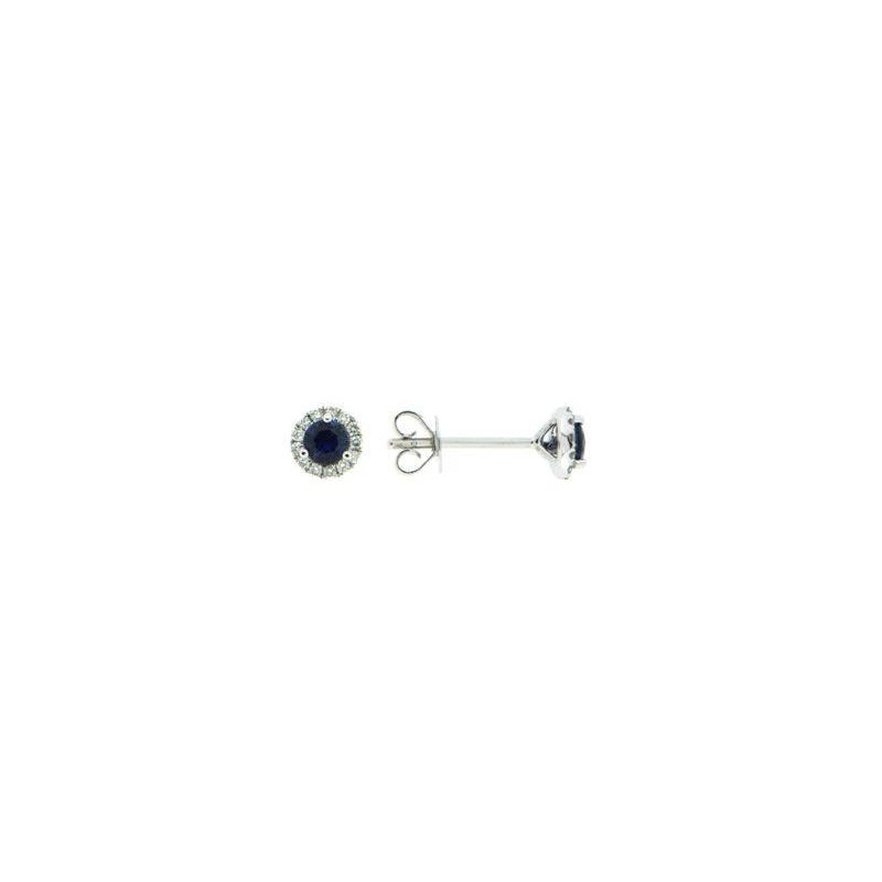 Davidson's Signature Sapphire Halo Stud Earrings