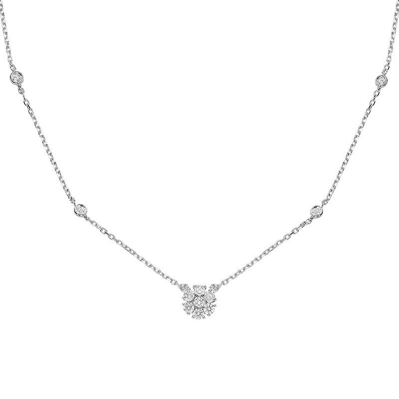 RnB Jewellery Diamond Cluster Necklace