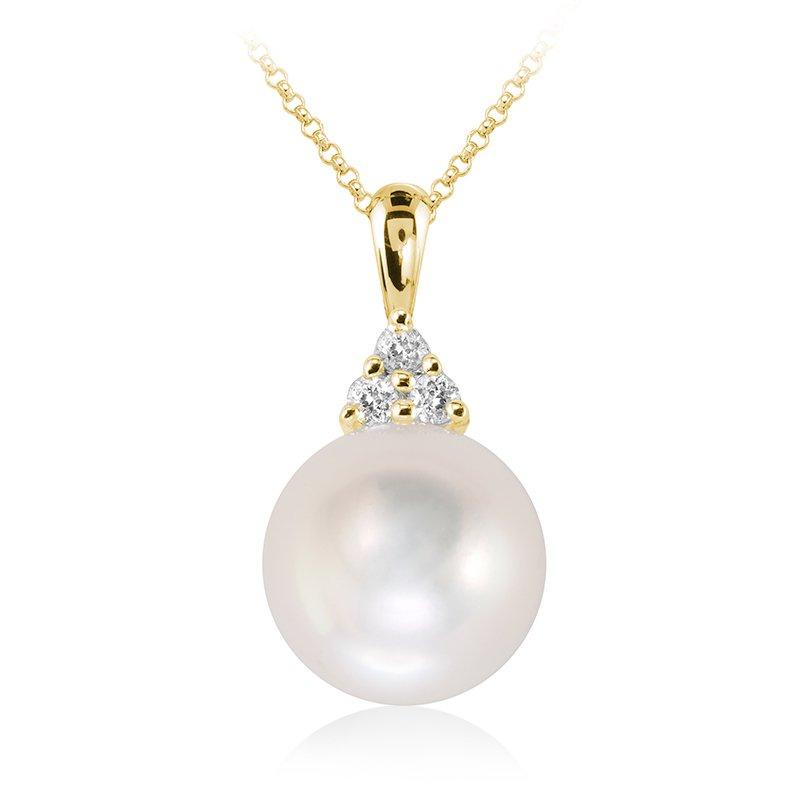 RnB Jewellery Diamond and Pearl Pendant