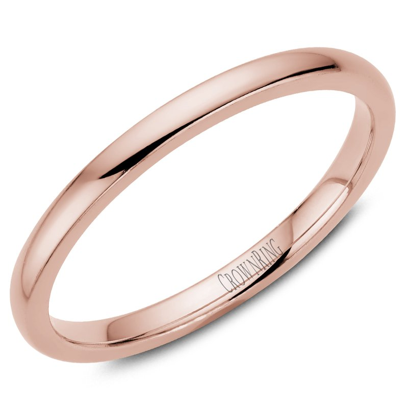 CrownRing Classic Wedding Band in Rose Gold