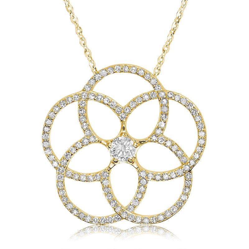 RnB Jewellery Large Diamond Flower Pendant