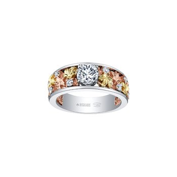 Autumn Falling Leaves Engagement Ring