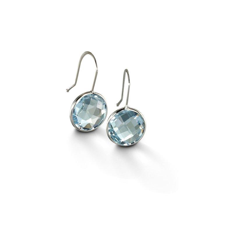 B Couture Blue Topaz Drop Earrings