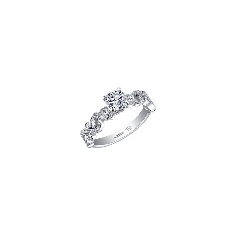 Maple Leaf Diamonds Enchanted Solitaire Engagement Ring