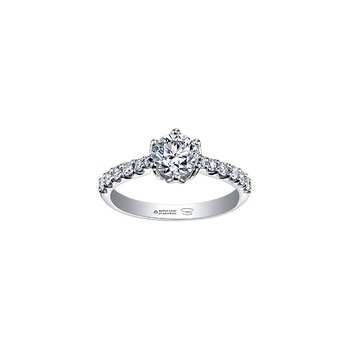 Spring Lily Six Petal Engagement Ring