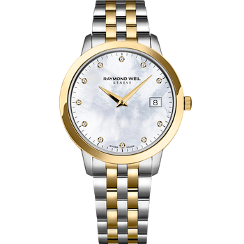 Toccata Ladies Two-Tone with Mother of Pearl and Diamonds Quartz Watch