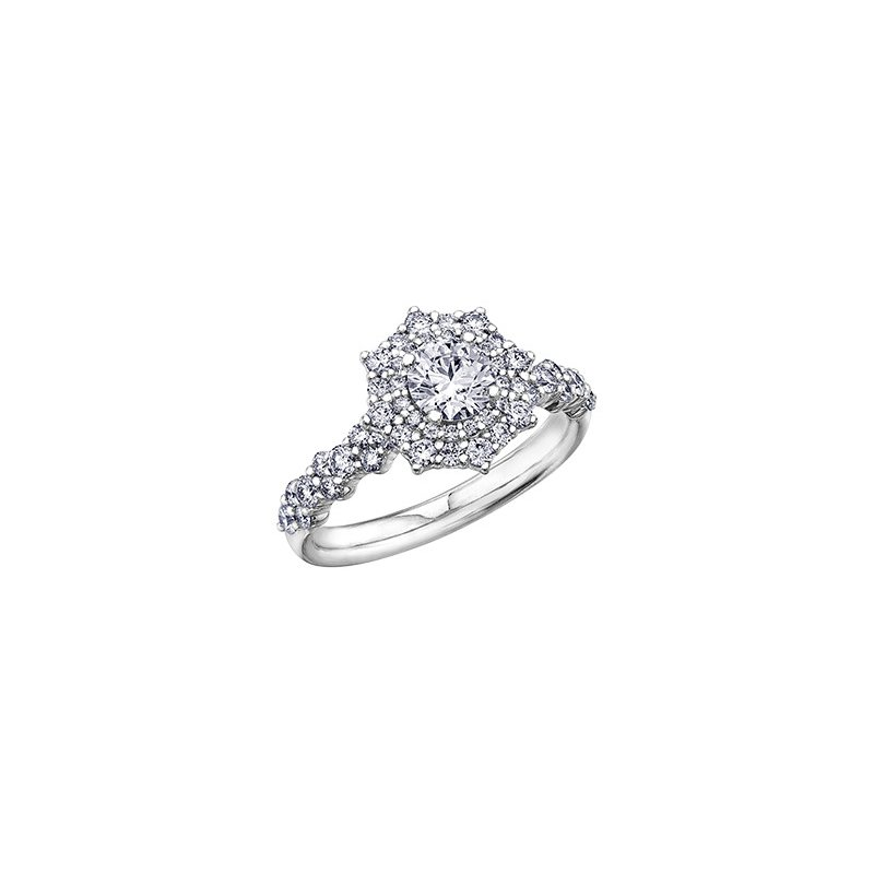 Maple Leaf Diamonds Eternal Flames Cluster Engagement Ring in White Gold
