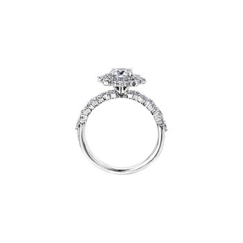 Eternal Flames Cluster Engagement Ring in White Gold