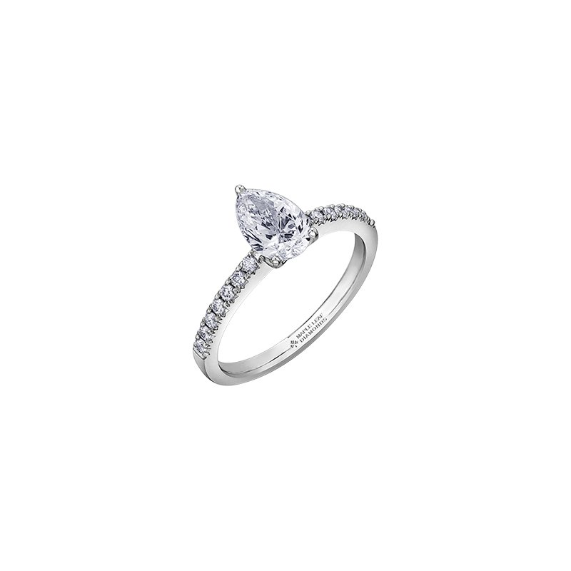 Maple Leaf Diamonds Eternal Flames Pear Diamond Engagement Ring