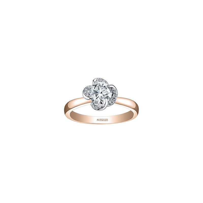 Maple Leaf Diamonds Wind's Embrace Solitaire Engagement Ring in Rose Gold